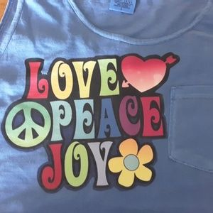 LOVE peace Joy womens tshirt funny Tank top Large